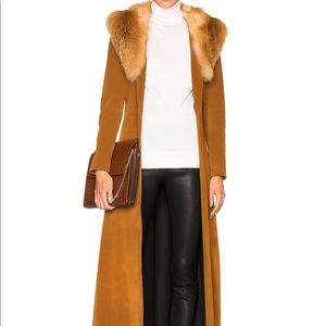 THEPERFEXT Penny Lane Suede Coat with Fox Fur XS